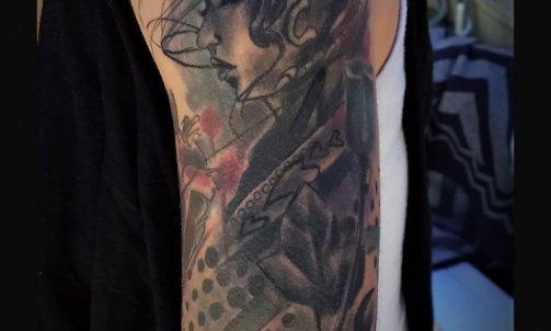 Lucas Slevin Bourgoin-JallieuLucas Slevin saint jean de bournay tattoo graphique couleur aquarelle géométrie art artist graff graffeur portrait création personalisée personnalisé ink tattouage tatou tattou color
